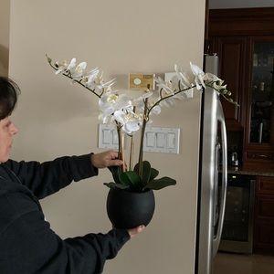 Faux flower vase